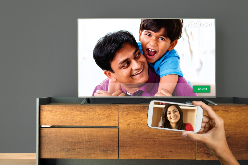 Tellybean - Life-sized video calls on TV