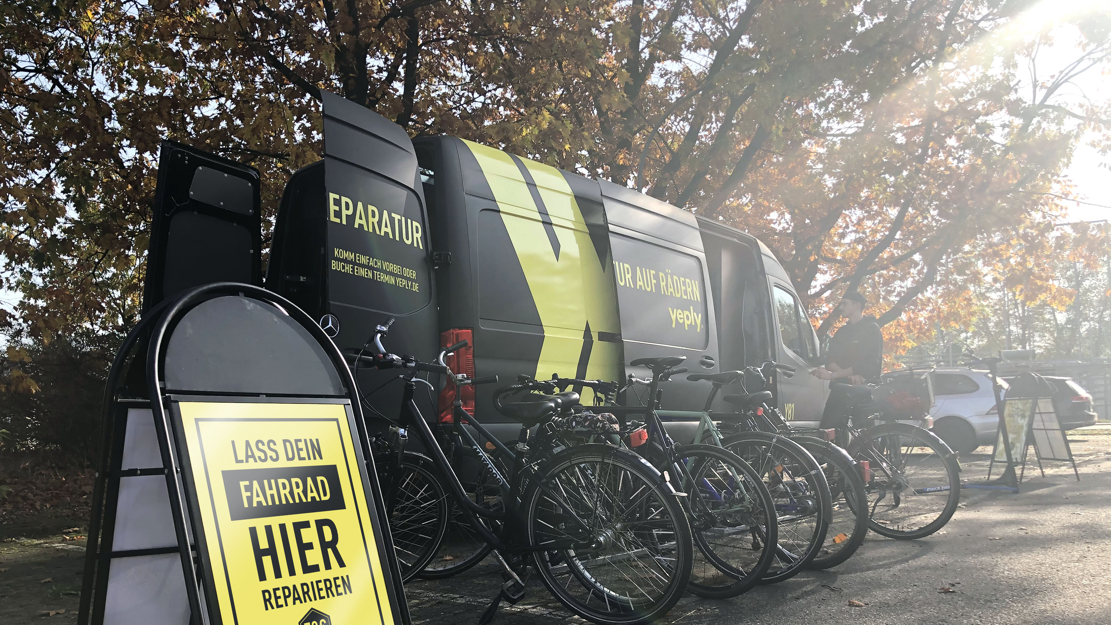 Van setup in Hamburg