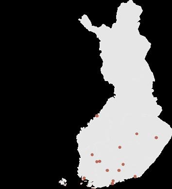 Myymälöiden sijainnit kartalla